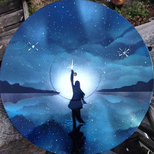 North Star Original Painted Vinyl Record