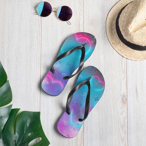 Love Galaxy Flip-Flops