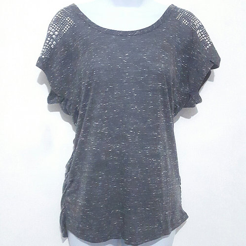Womans L Gray Dolman Top