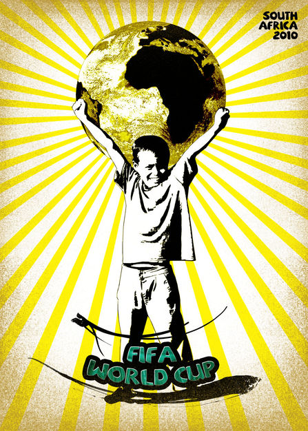 Winner Poster for the annual social competition Good 50x70 edition 2010, the message: Play for Africa with - The Fifa World Cup - They received 2357 posters from 81 countries.