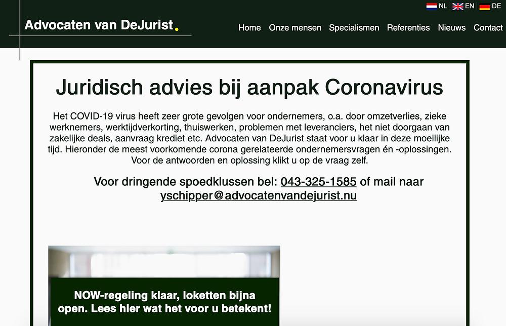 Juridisch advies coronavirus voor ondernemers