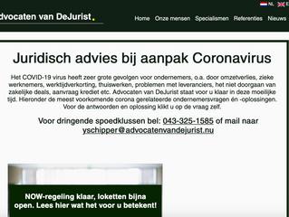 Advocaten van DeJurist lanceert Corona hulplijn!