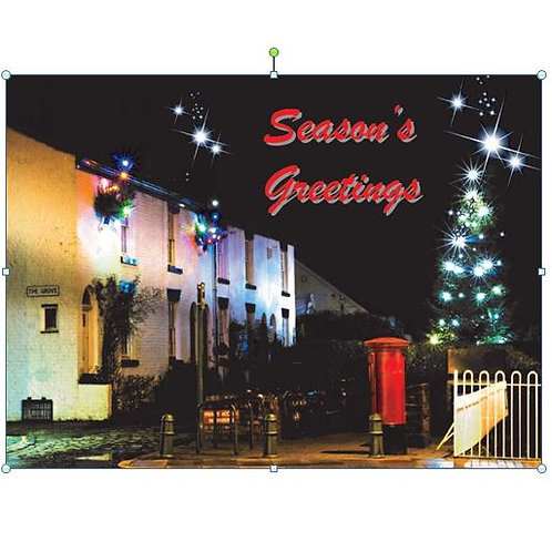 Xmas Card- Lower dam at night -Pack of 10