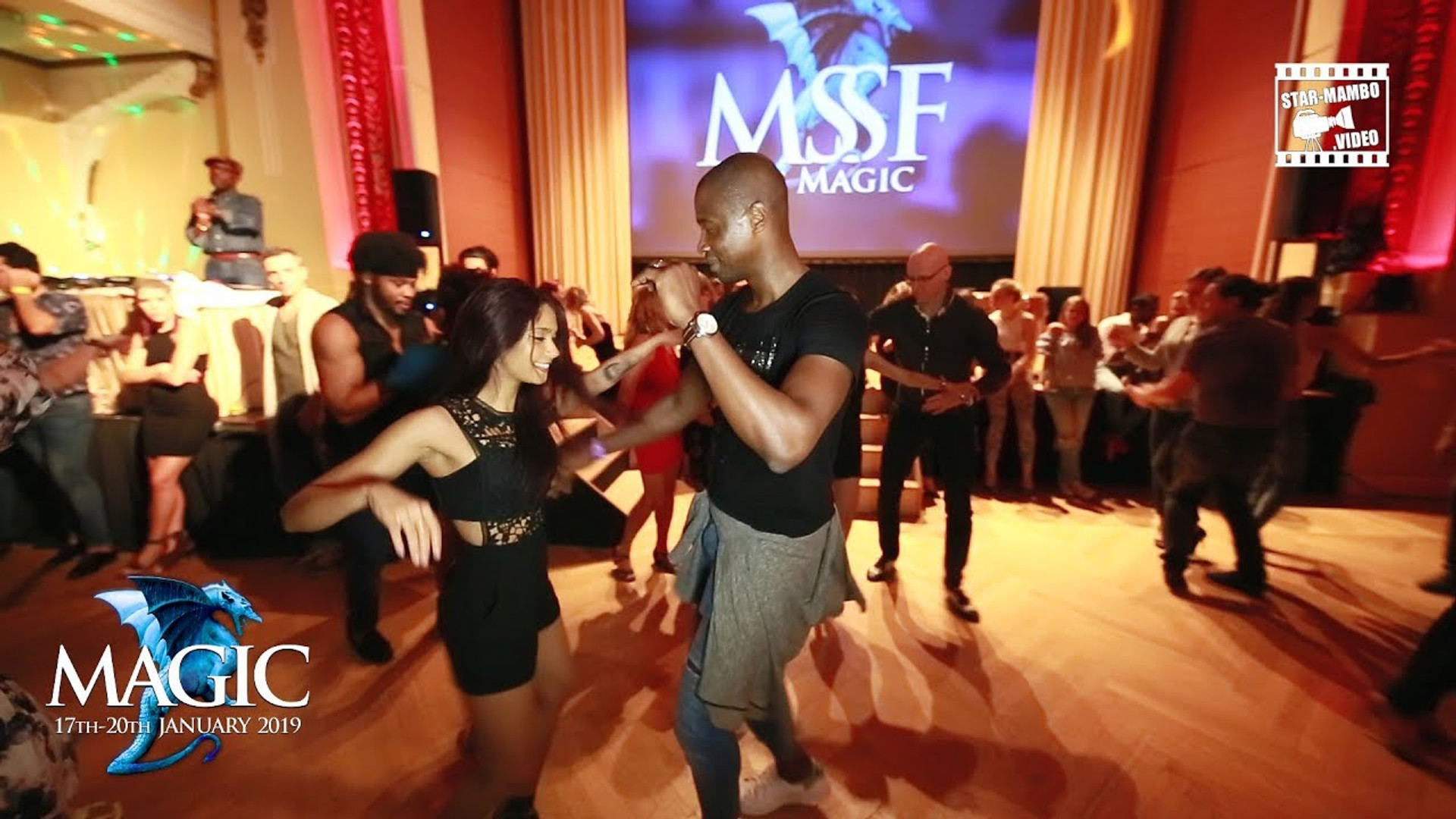 Social dancing with  Tania Cannarsa to Magic Slovenian Salsa Festival 2018