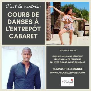 Cours de danses latines (salsa - bachata) & west coast swing à l'entrepôt cabaret