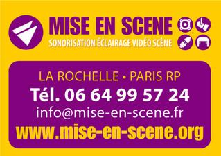 MISE EN SCÈNE - NOUVEAU PARTENAIRE DE LA ROCHELLE DANSE & ACHILE DINGA
