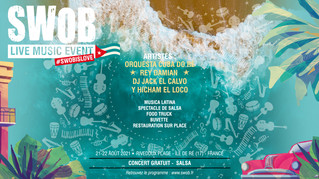 FESTIVAL DE MUSIQUE LATINES SUR L'ÎLE DE RÉ À RIVEDOUX-PLAGE : SWOB LIVE MUSIC EVENT