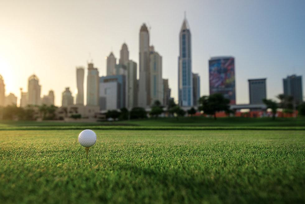 Playing golf at sunset.jpg