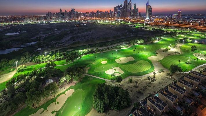 Jumeirah lake towers and Dubai Marina sk