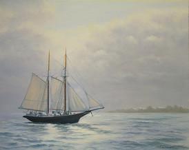 Sailing to Key Largo