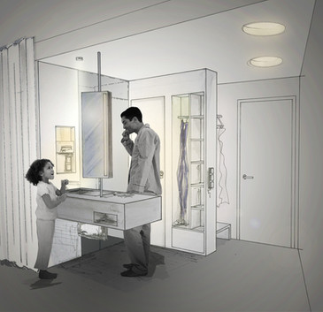 Entwurfsstudien Hotelzimmer