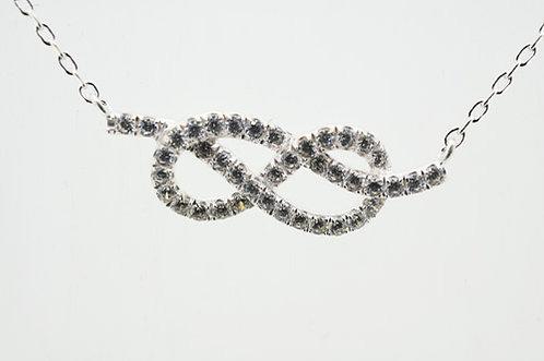 Silver CZ INFINITY Necklace 7530