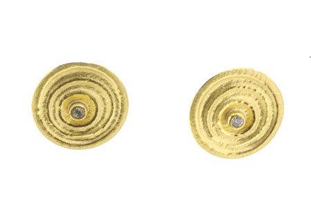 Manu Silver Diamond Set Earrings