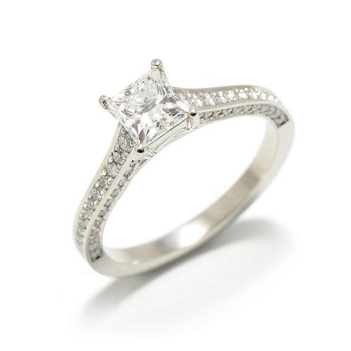Platinum Diamond Ring & Wedding Ring