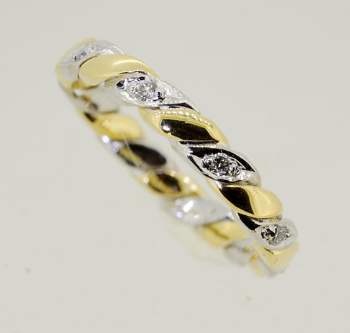 18ct Fancy Handmade Diamond set Band Ring