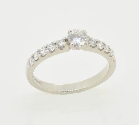 Palladium Diamond Set Ring