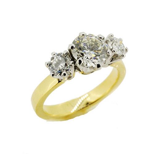 Platinum & 18ct Yellow Gold Diamond Ring
