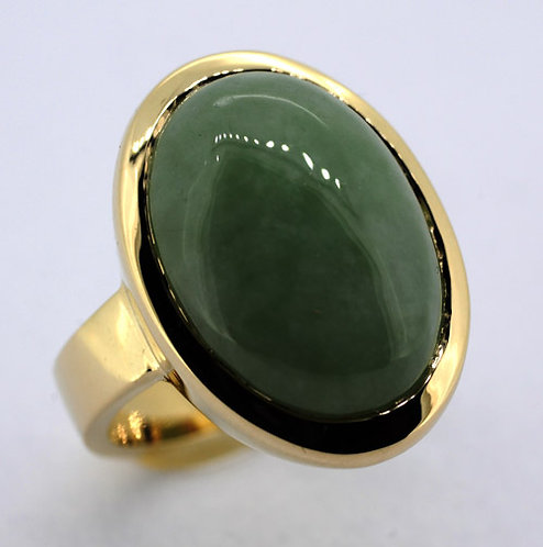 9ct jade dress contemporary ring