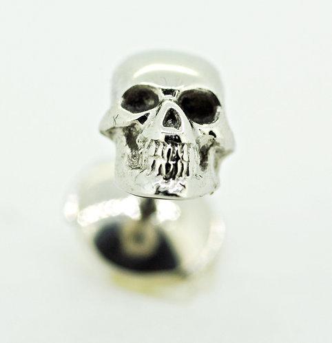 Platinum skull Ear stud  ( Gents )