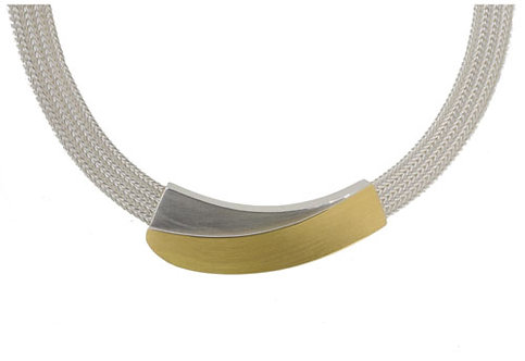 MANU Silver Foxtail Necklace