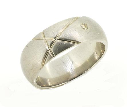 Palladium Diamond Band Ring
