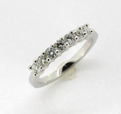 Platinun 7 Stone Eternity Ring
