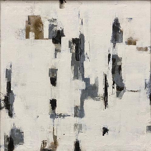 Grey Area (35x35) Companion -Mixed Media on Canvas