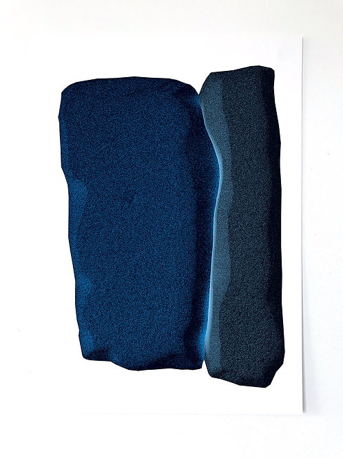 BLUE DRIFT 30x40cm