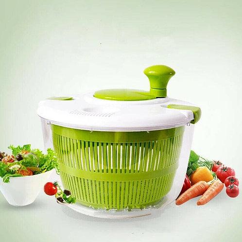 Manual Grips Salad Spinner Lettuce Greens Washer Dryer Drain Crisper Strainer