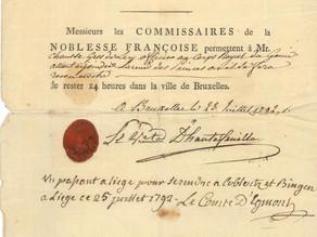 Acquisition de documents du 18e siècle, grâce à la contribution financière de la Fondation de BAnQ