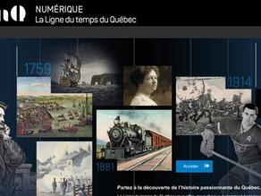 Suivez la Ligne du temps du Québec sur le portail Web de BAnQ
