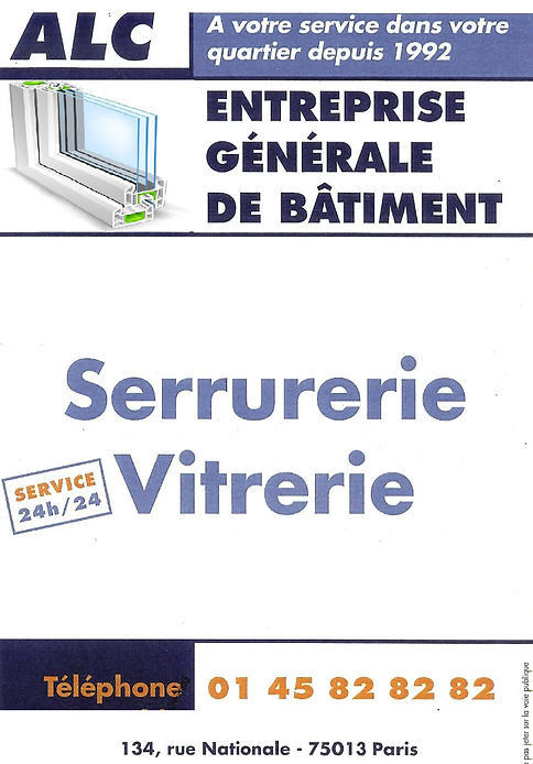 pose fenêtres Paris 75013