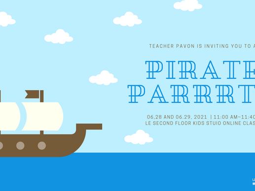 快閃樂全英語卡通主題線上派對Full English  Online Pirate Party