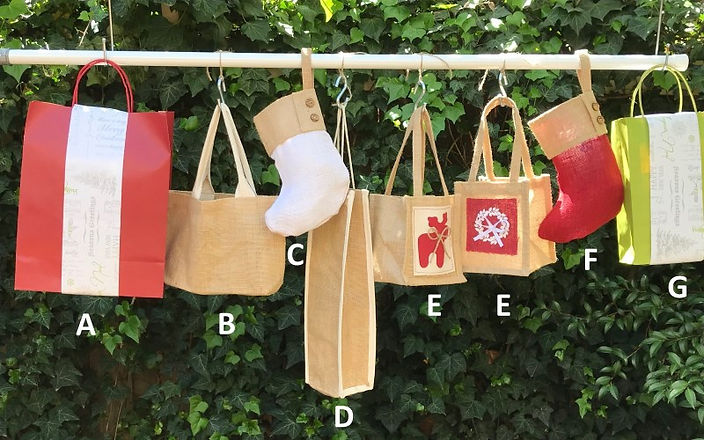 Christmas Hamper Selection with Letters
