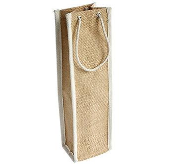 Single Jute Wine Bag