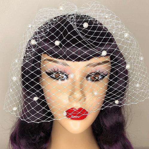 Bridal Pearl Veil