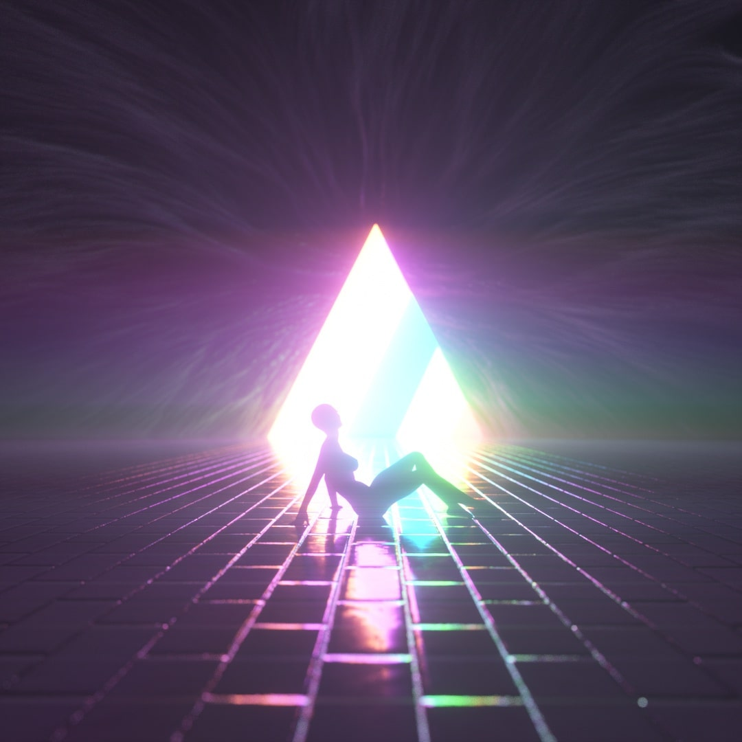 Glowing Pyramid Lady