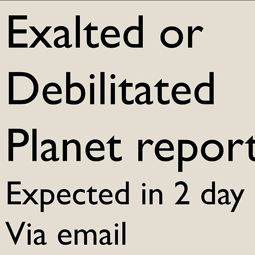 Exalted - Debilitated Planet Details