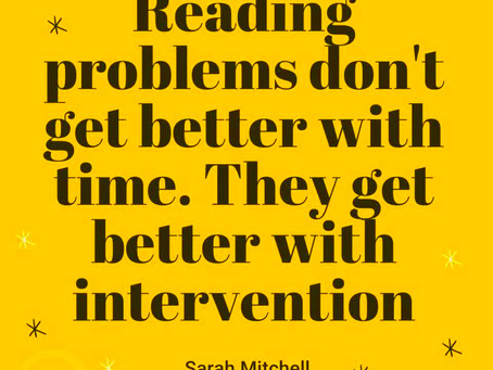Reading problems do not get better with time.