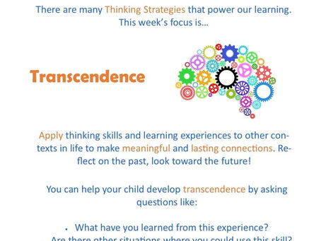This week's focus: Transcendence