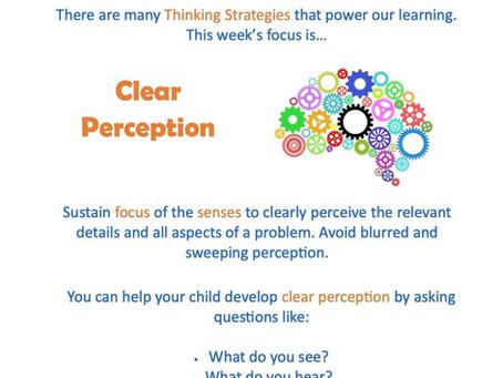 This week's focus: Clear Perception