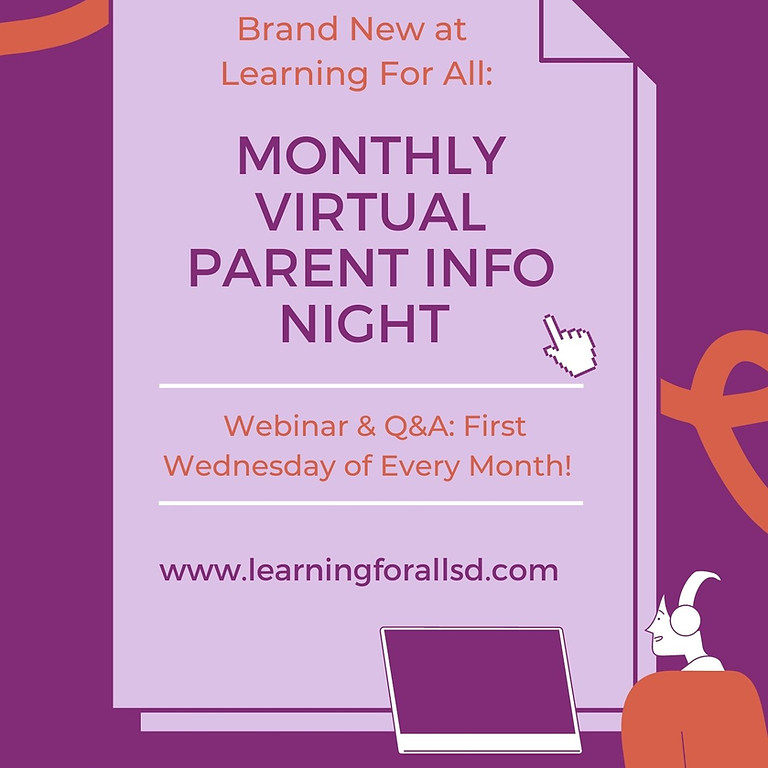 Monthly Parent Information Night