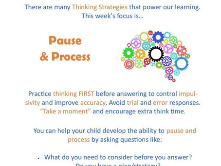 Thinking Focus - Pause & Process