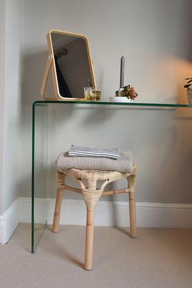 Glass dressing table/desk