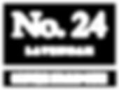 No.24 logo - white