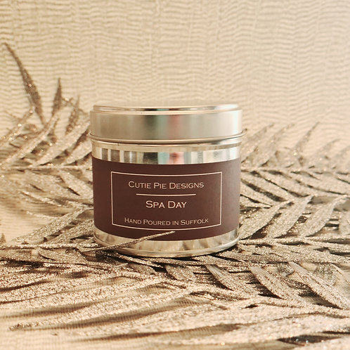 Spa Day Candle Tin