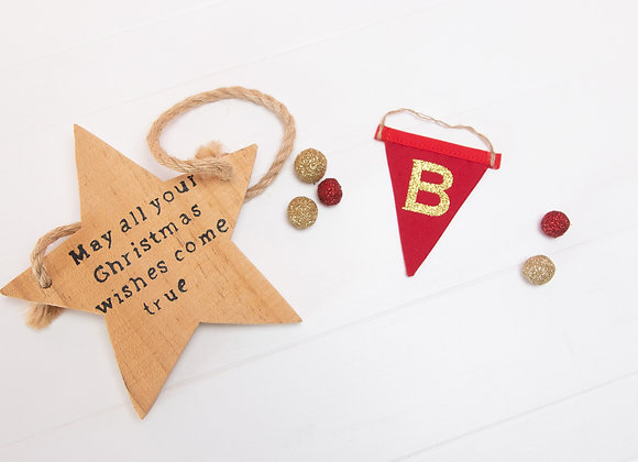 MICRO hanging personalised letter flag
