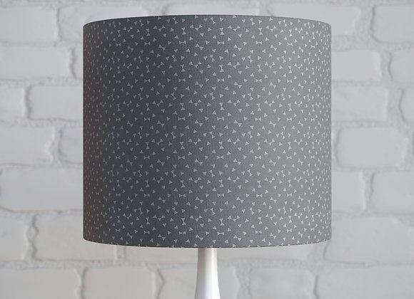 """Grey """"Bow Tie"""" Patterned Lampshade"""