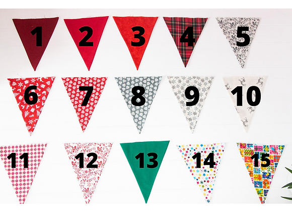 DESIGN YOUR OWN - Christmas Bunting