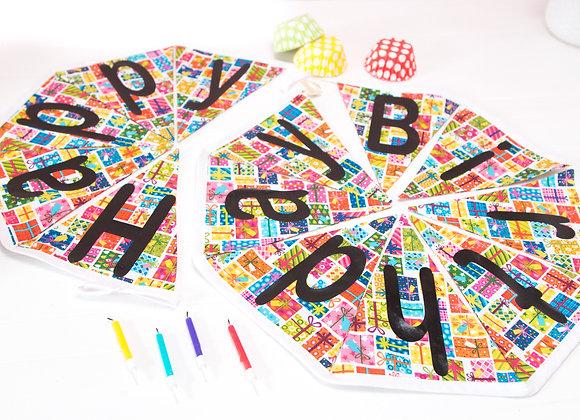 Multi-coloured Happy Birthday